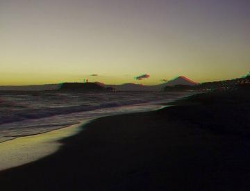 砂浜に降りて