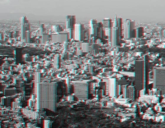 アナグリフ 新宿高層ビル群