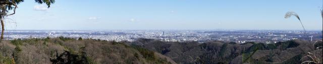 高尾山休憩所からのパノラマ写真