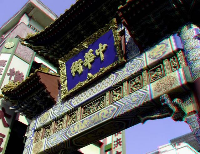 アナグリフ 中華街門