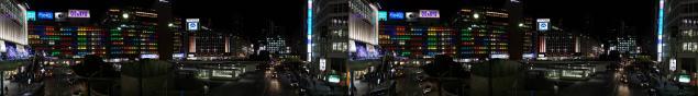 新宿西口ステレオ写真