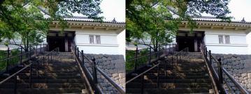 城内への階段