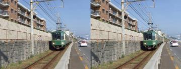 鎌倉方面へ向かう江ノ電