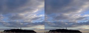 雲と江ノ島
