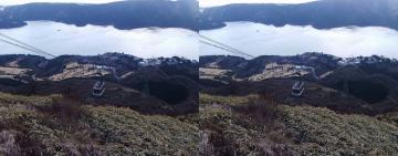 ロープウェーと芦ノ湖