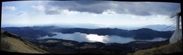 芦ノ湖から駿河湾