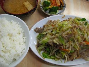 やしろ食堂@肉野菜炒め