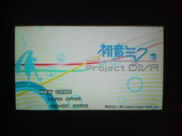 -Project DIVA-起動画面