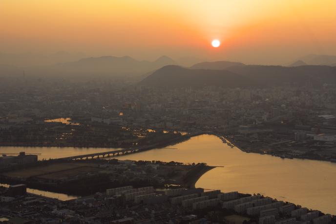 屋島からの夕日'08.12.20-1
