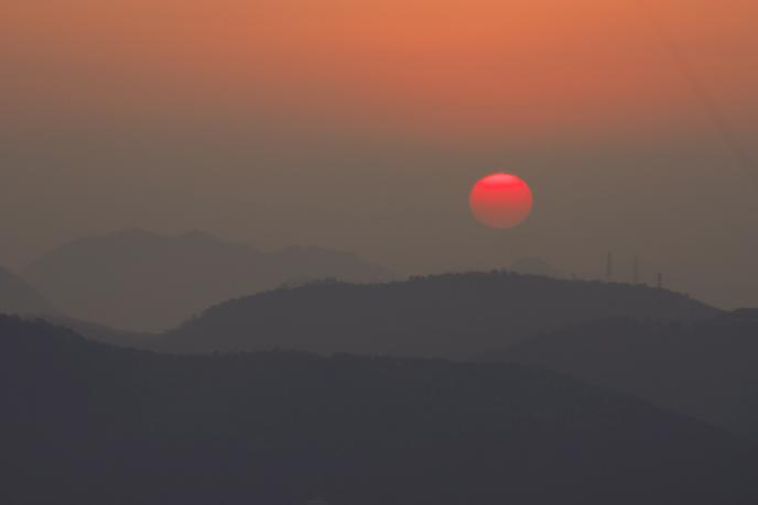 屋島からの夕日'08.12.20-2