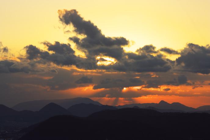 屋島の夕景'08.12.26-1