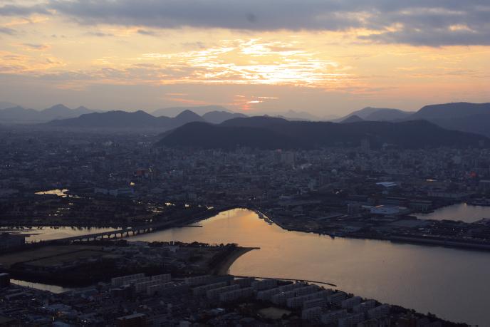 屋島の夕景'0812.27-2