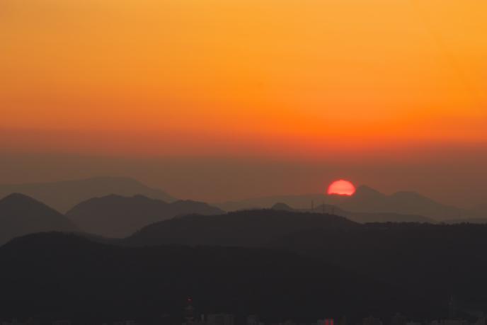 屋島の夕景'09.01.06-2