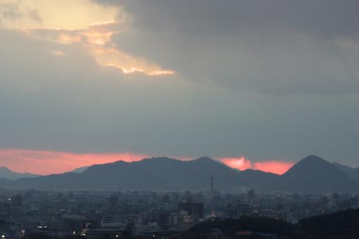 八栗からの夕景'09.01.11-1