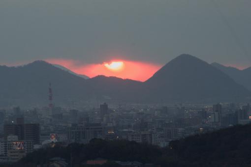 八栗からの夕景'09.01.11-2