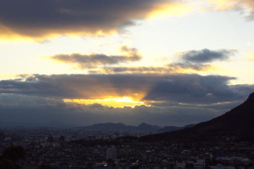 八栗からの夕景'09.01.13