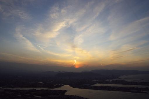 屋島の夕景'09.01.19-3