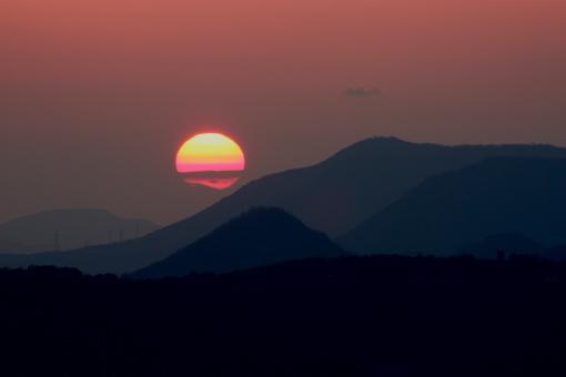 屋島の夕景'09.01.25-2