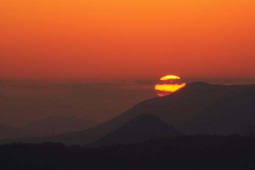 屋島の夕景'09.01.28-2