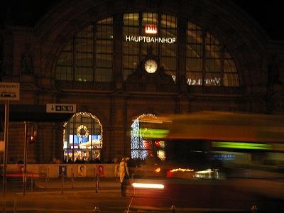フランクフルト駅前