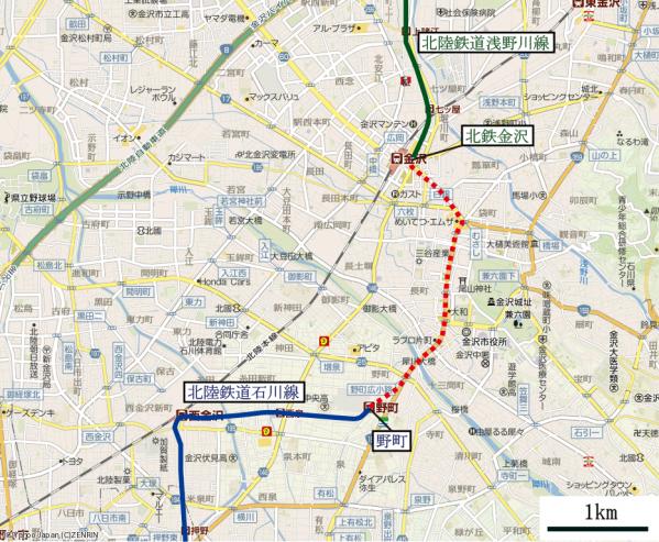 北陸鉄道接続(拡大)