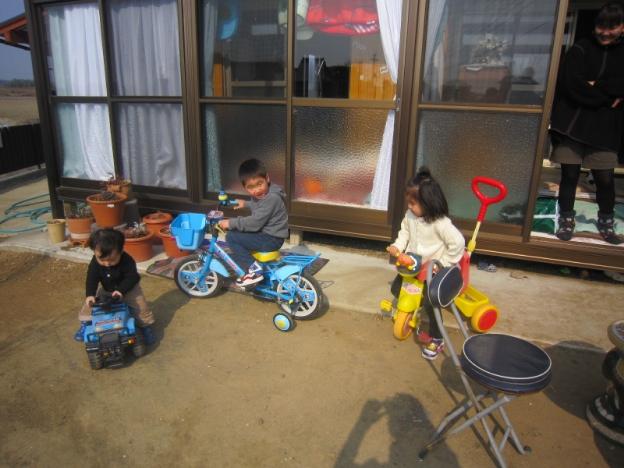 3人自転車