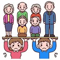 少子高齢化により、年金を受け取る高齢者が増える反面、年金の保険料を負担する若い人は減少傾向に