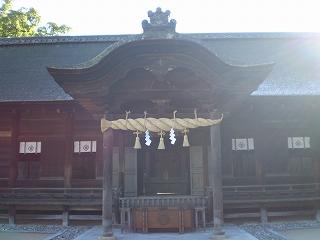 大山祇神社 拝殿正面