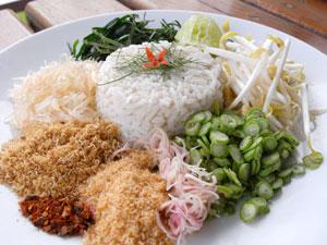 Khao Yam (herb rice salad)
