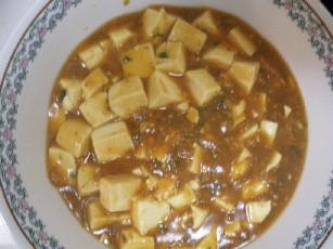 麻婆豆腐完成図