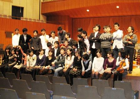 2010.1.23卒団する先輩たち