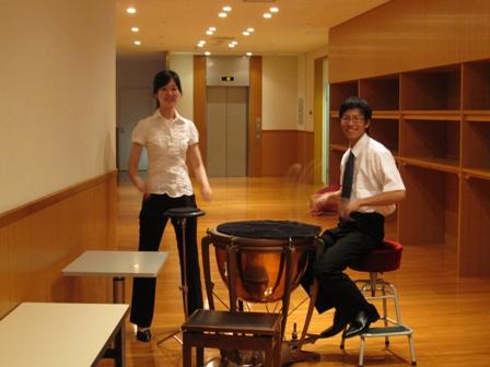2010.8.1豊田本番前のティンパニストたち