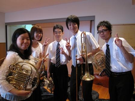 2010.8.1豊田本番前のホルン
