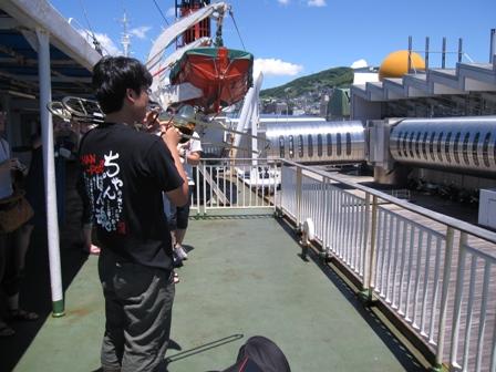 2010.8.6長崎港を出港