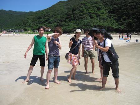 2010.8.7海岸にて