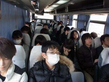 バスの移動中
