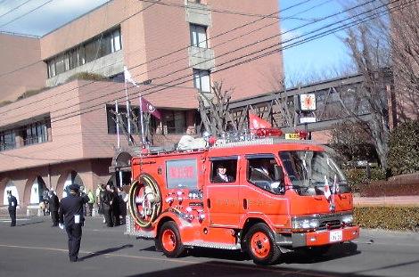 消防車もパレード