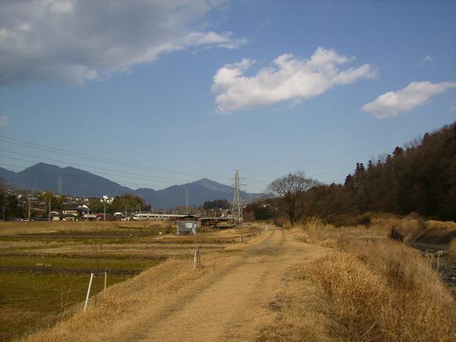 枯草の土手道09
