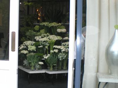 白いお花屋さん