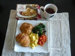 サンクスギビング 朝食クロワッサン