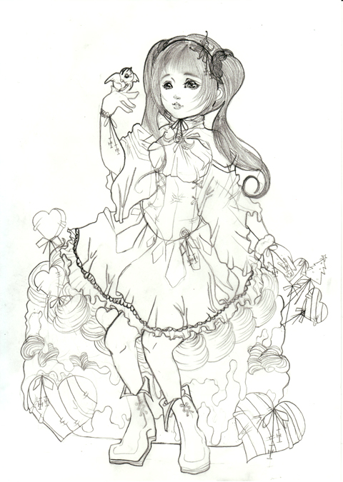 みるくちゃん風ツインテールの女の子(//^-^//)