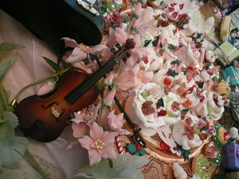 盛りだくさんのクリスマスケーキ(//^-^//)