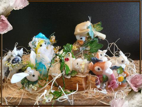 小さな羊さん2匹とロバさんが加わりました(//^-^//)