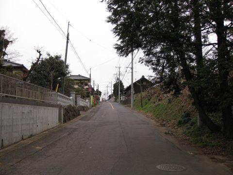 稲吉宿江戸方外れの坂道