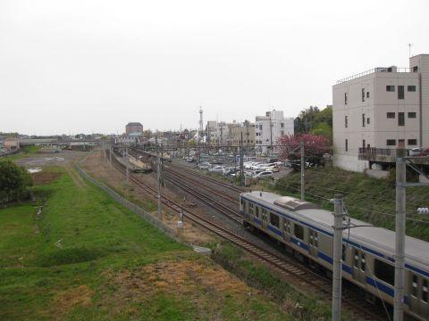 常磐線・石岡駅付近