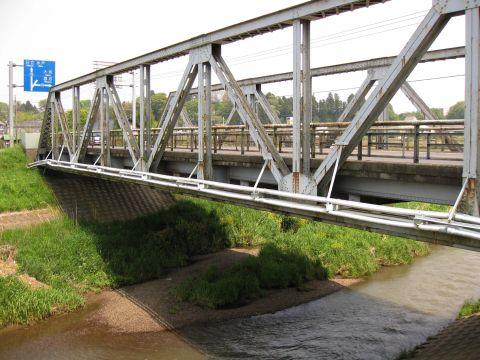 長岡橋と涸沼前川