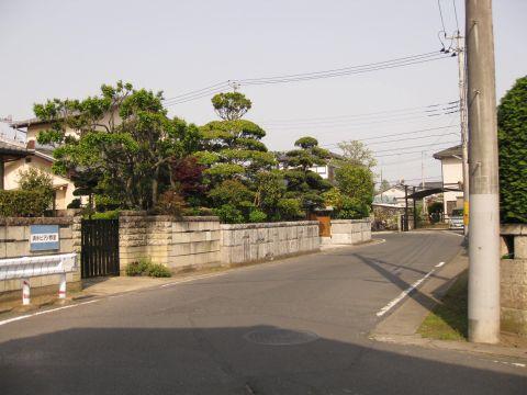 同心町江戸方入口の枡形