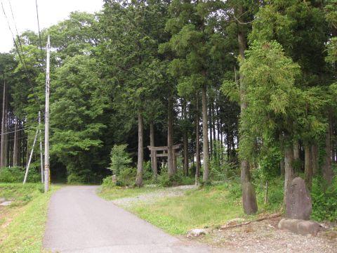 高尾神社前の道