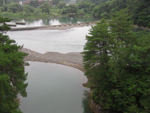 中岩と鬼怒川