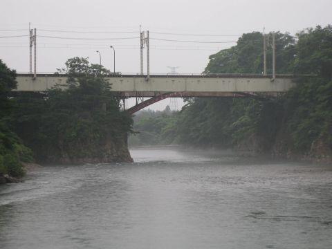 鬼怒川橋梁と中岩橋